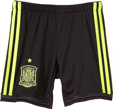 adidas FEF Away - Pantalones Cortos para niños, diseño de la Selección de fútbol de España visitante Negro Black/Electr/Dshale Talla:128: Amazon.es: Ropa y accesorios