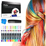 Hair Chalk Pens, Ohuhu 12 Colors Temporary Hair Chalks Salon, Non-Toxic Washable Hair Dye Colors for Party, Cosplay, Theater, Halloween, Girl's Night Out