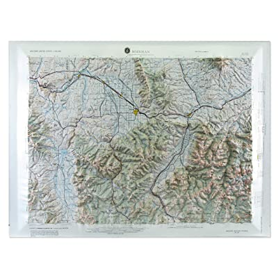 """American Educational Bozeman Montana Map without Frame, 31"""" Length x 21"""" Width: Industrial & Scientific"""
