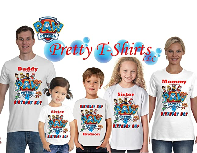 Amazon Paw Patrol Birthday FAMILY Shirt Add ANY Name And Any