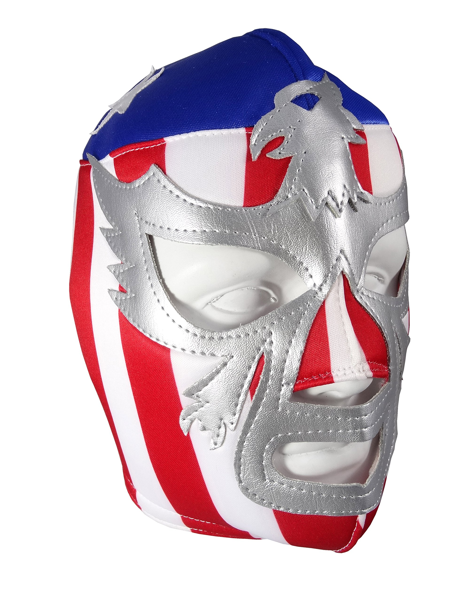PATRIOT AMERICA Adult Lucha Libre Wrestling Mask (pro-fit) Costume Wear - Stripes by Mask Maniac