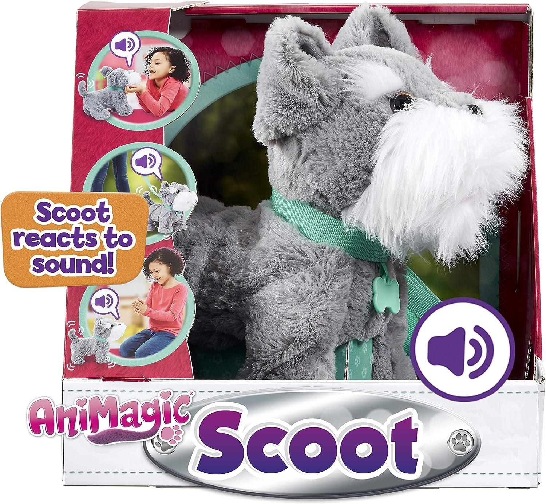 Animagic Scoot, Soft Plush, Sound Responsive Movement Dog-Peluche interactivo, multicolor (Vivid Toys 31361.4300) , color/modelo surtido