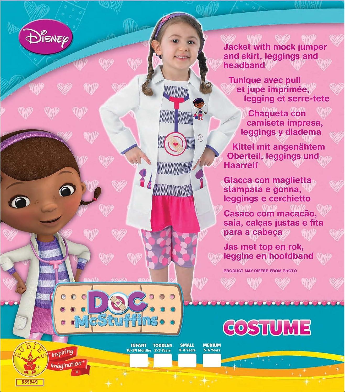 Rubies Doctora Juguetes - Disfraz de medico para niña, talla M (5-6 años) (I-889549M)