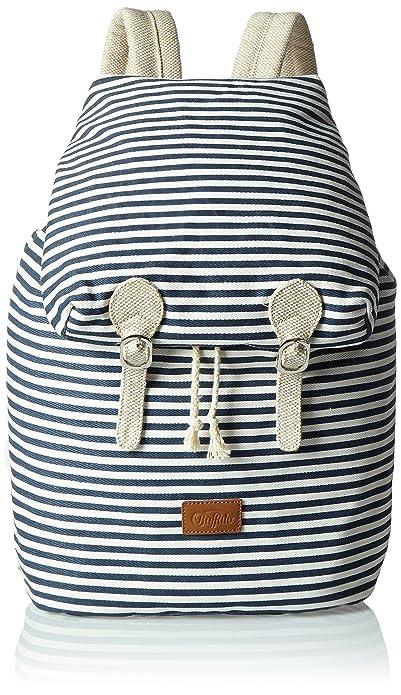 Womens Bag L016-050 Canvas Shopper, Blue (Navy 03), 17x53x39 cm (B x H x T) Buffalo
