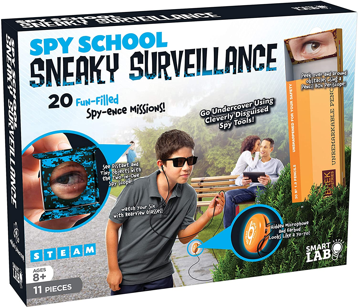 Spy School Sneaky Surveillance - 11 Pieces - Includes in-world Book, Multi (SL308685)