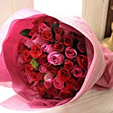 フラワーキッチン 人気商品 バラ50本の花束 レッド&ピンク のミックスカラー