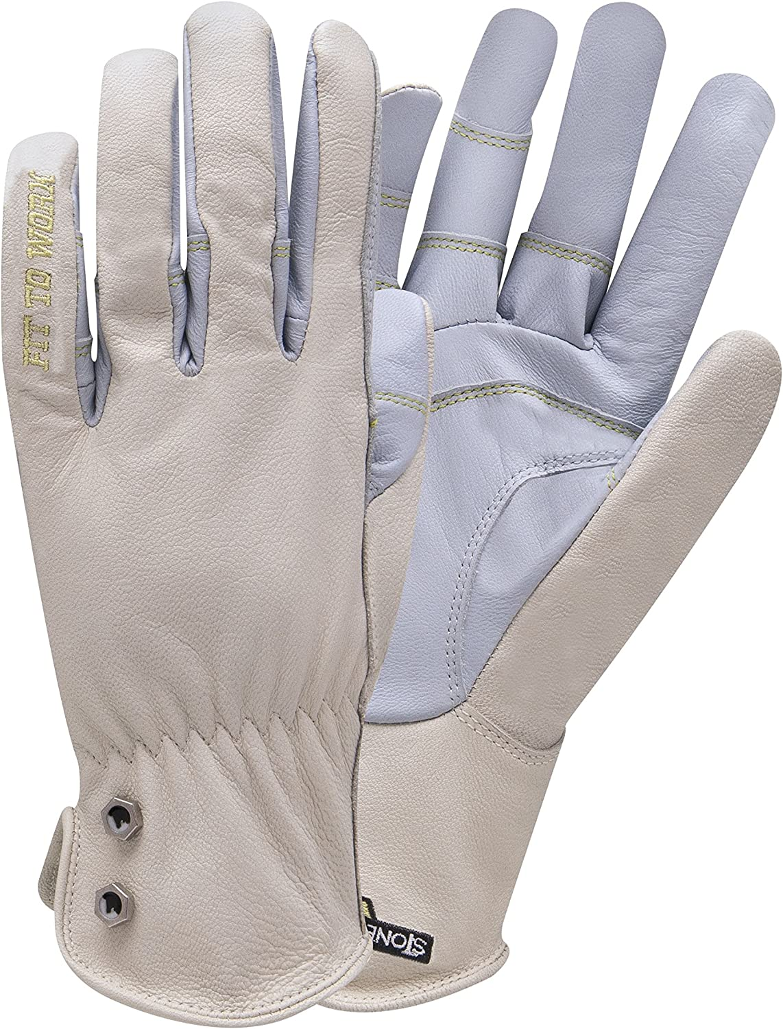 StoneBreaker Gloves Garden Pro Women's Gardening Glove, Large, Light Blue