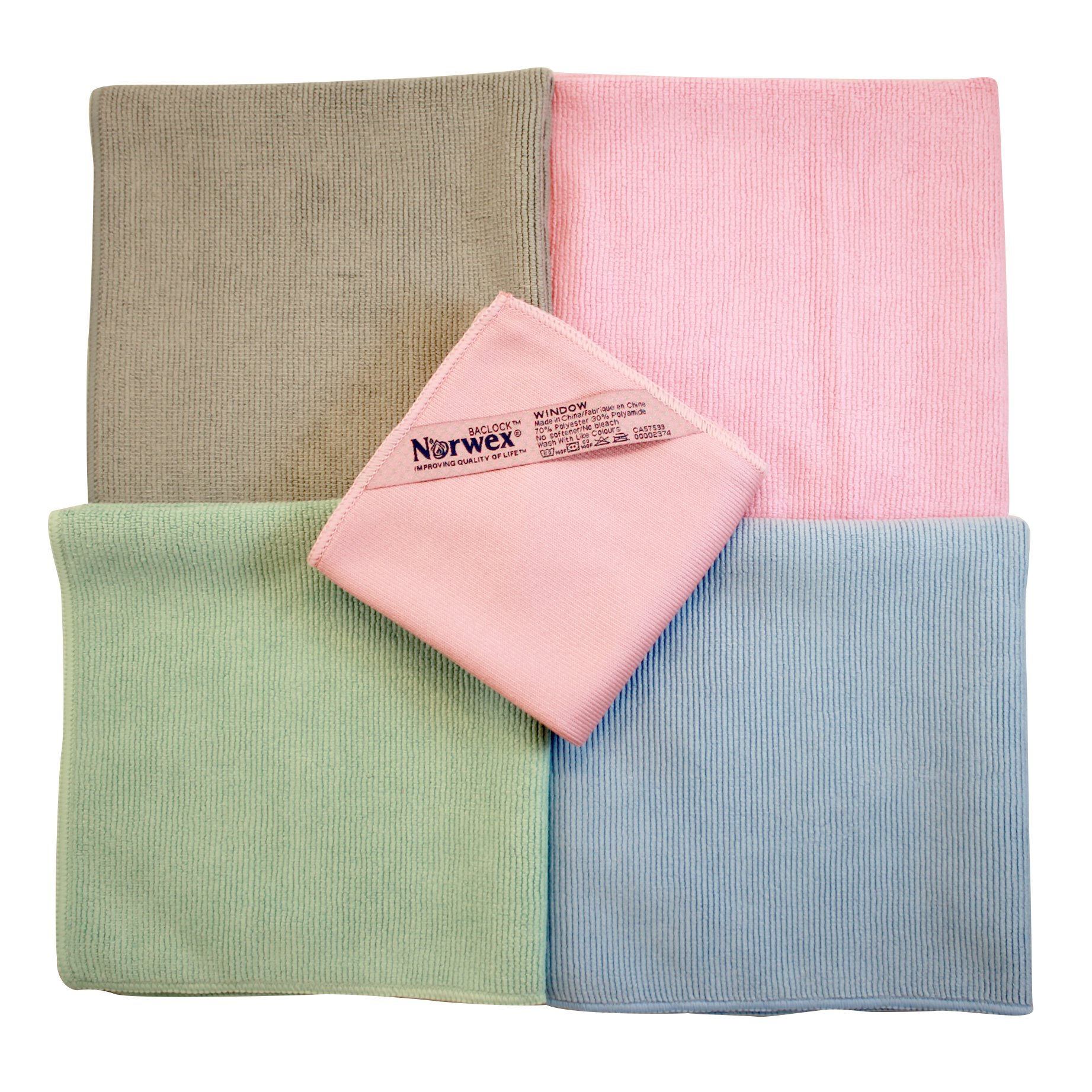 Norwex Microfiber Rainbow Package Plus with 4 Enviro Cloths & 1 Window Polishing Cloth by Norwex (Image #2)