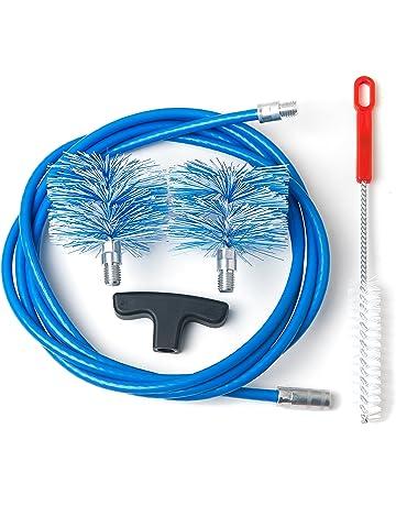 Kit de limpieza de estufas de pellets, conductos de humos con codos: Cable de