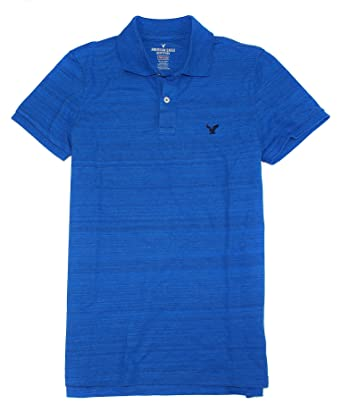 ed413e16 American Eagle Men's Classic Fit Solid Pique Core Flex Polo 033 (X-Small,  474 Royal Blue) at Amazon Men's Clothing store: