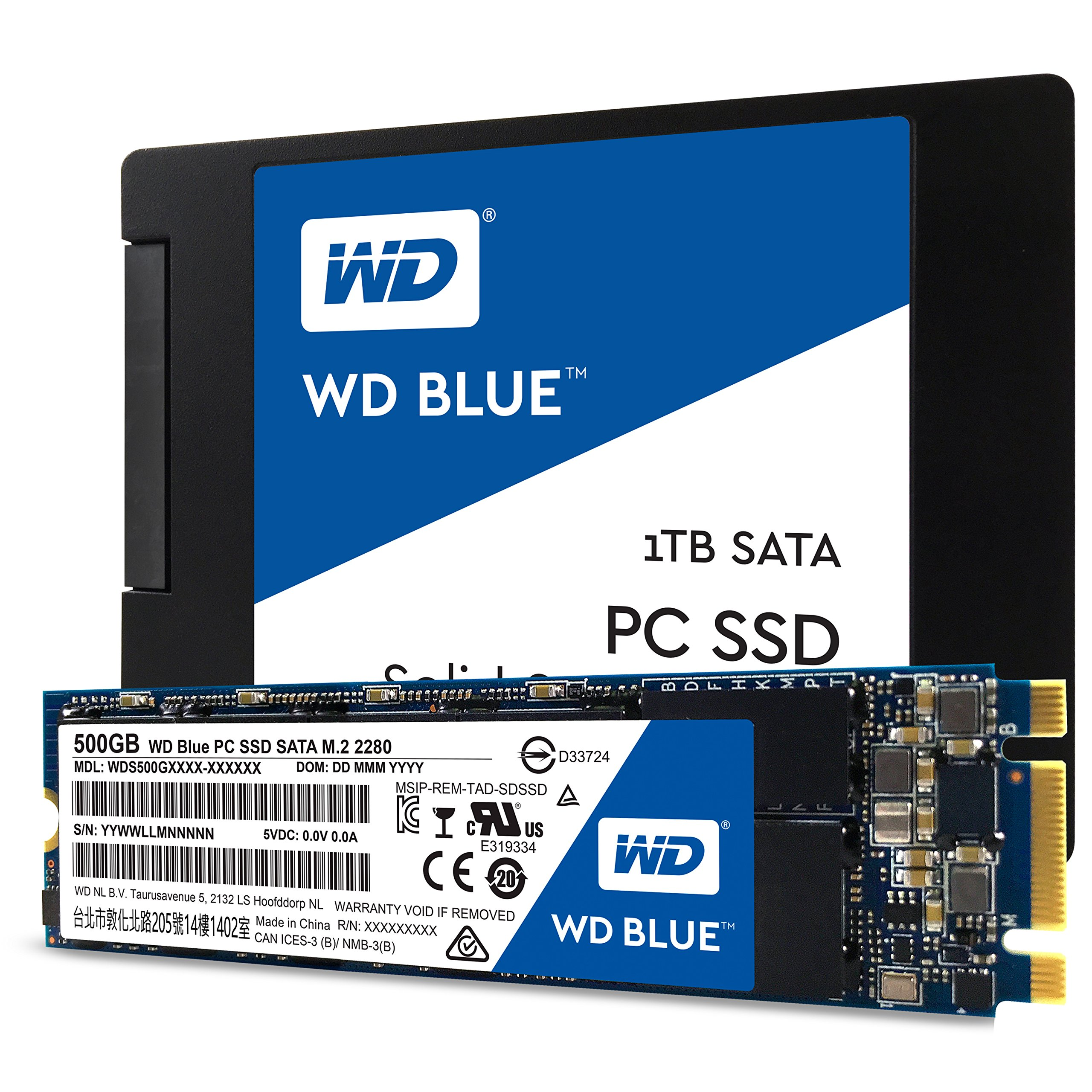 WD Blue SATA 6Gb/s 2.5 Inch 500GB Internal SSD Solid State Drive (WDS500G1B0A) by Western Digital (Image #2)