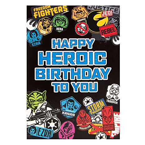 Amazon.com: Star Wars Rebels Heroico Happy Birthday To You ...