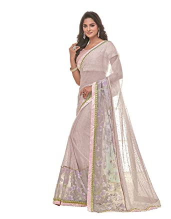 Amazoncom Mahotsav Wedding Wear Lavender Color Embroidery Work