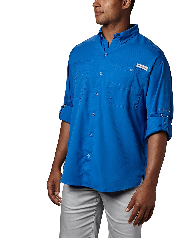 Columbia Mens PFG Tamiami II Long Sleeve Shirt UPF 40 Sun Protection Wicking Fabric 268764