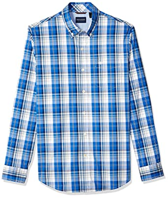 655a782848a Dockers Men s Long Sleeve Button Front Comfort FLEX Shirt at Amazon ...