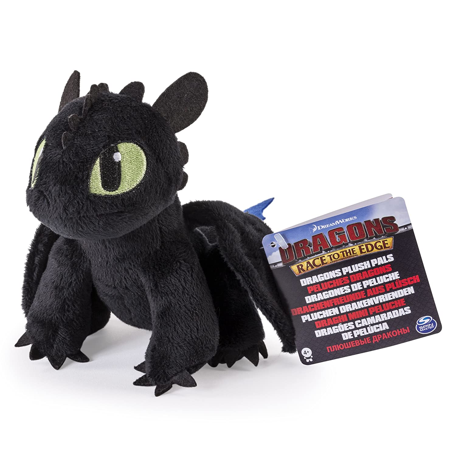"Amazon.com: DreamWorks Dragons Race To The Edge – 8"" Premium Plush – Blue Tail Toothless: Toys & Games"