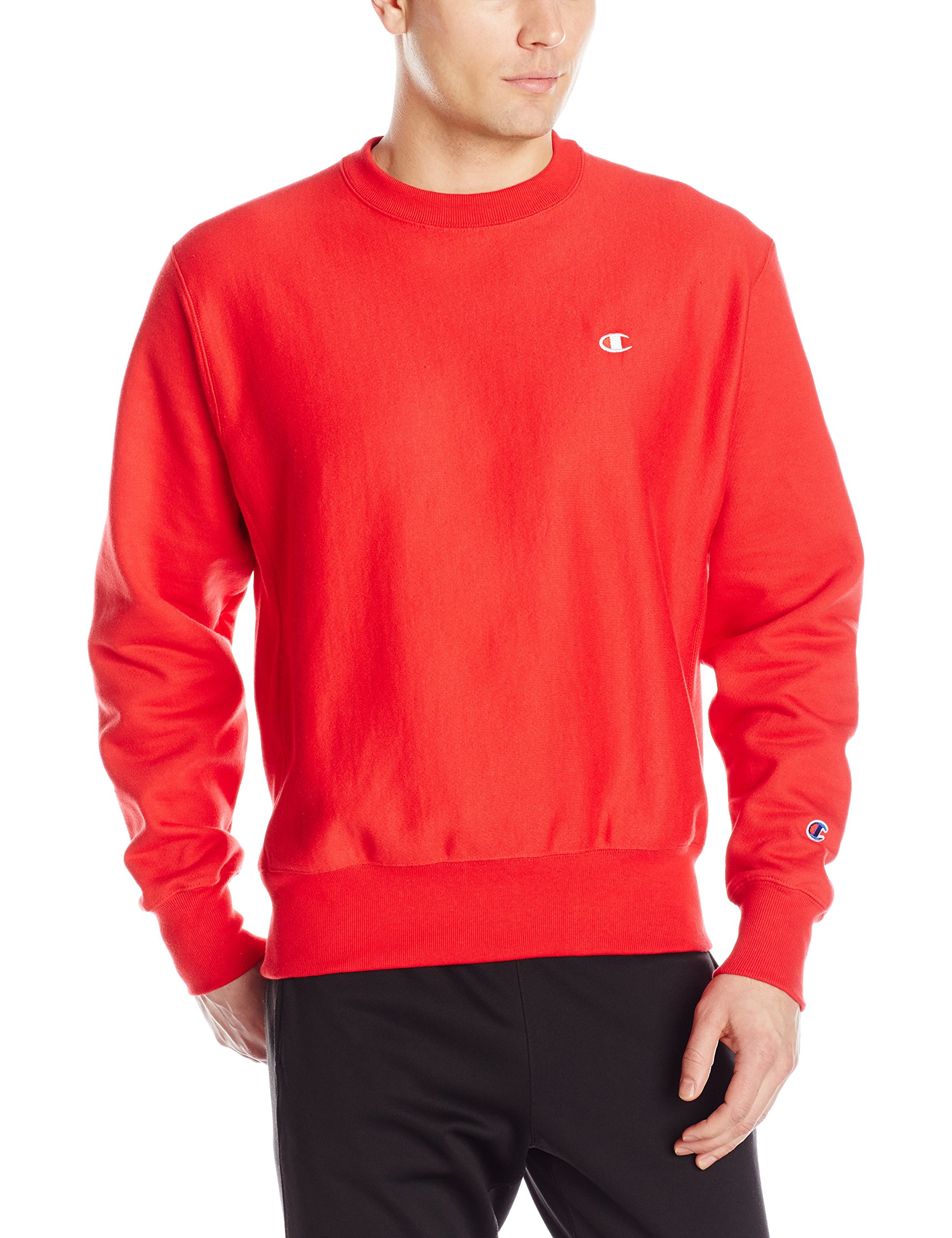 Champion LIFE Men's Reverse Weave Sweatshirt, Team Red Scarlet, Small
