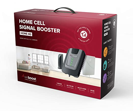weBoost Home 4G 470101 Cell Phone Signal Booster for Home and Office -  Verizon, AT&T, T-Mobile, Sprint - Enhance Your Cell Phone Signal up to 32x