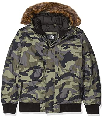 b571ba1596481 The North Face Boy's Gotham Down Jacket - New Taupe Green Camouflage Print  - XXS