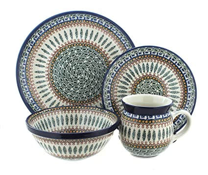 Polish Pottery Tuscany 16 PC Dinnerware Set  sc 1 st  Amazon.com & Amazon.com | Polish Pottery Tuscany 16 PC Dinnerware Set: Dinnerware ...