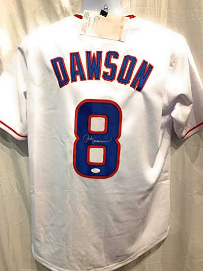 4ad4c587 Andre Dawson Chicago Cubs Signed Autograph MLB Custom White Jersey JSA  Witnessed Certified