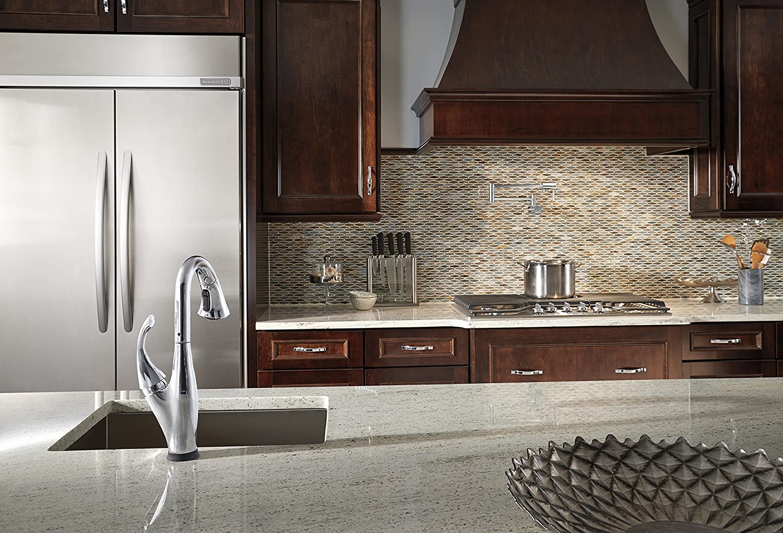 delta faucet 1165lf pot filler faucet wall mount chrome amazoncom