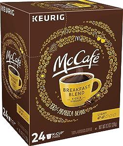 McCafe Breakfast Blend K-Cup, Light Roast, 24 Count