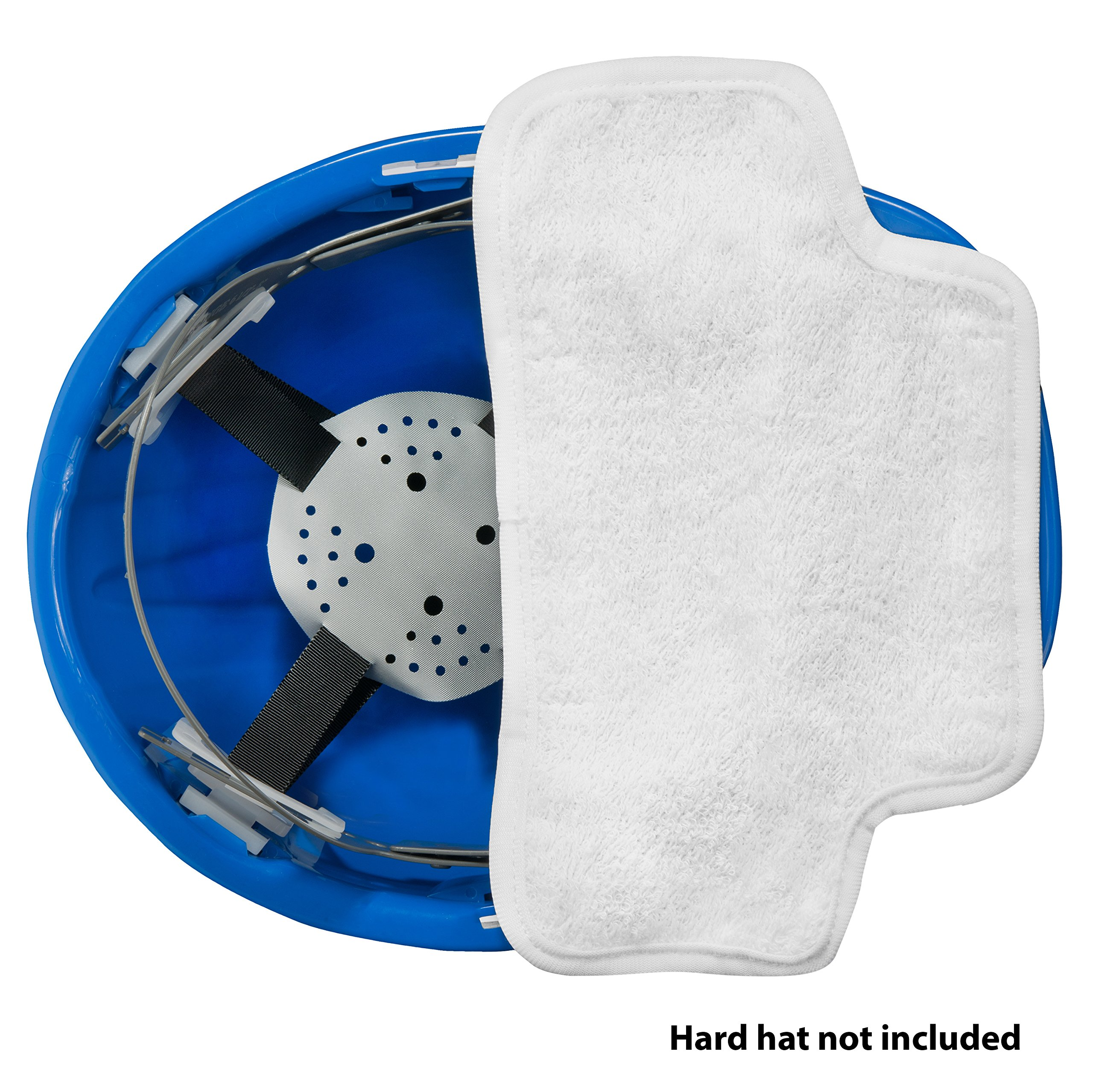 THREE Cotton Sweatbands for hard hats SOFT COTTON - EASY VELCRO ATTACHMENT - BEST VALUE - WASHABLE AND ESPECIALLY EASY TO ATTACH TO HARD HATS. by Paulex Solutions (Image #4)