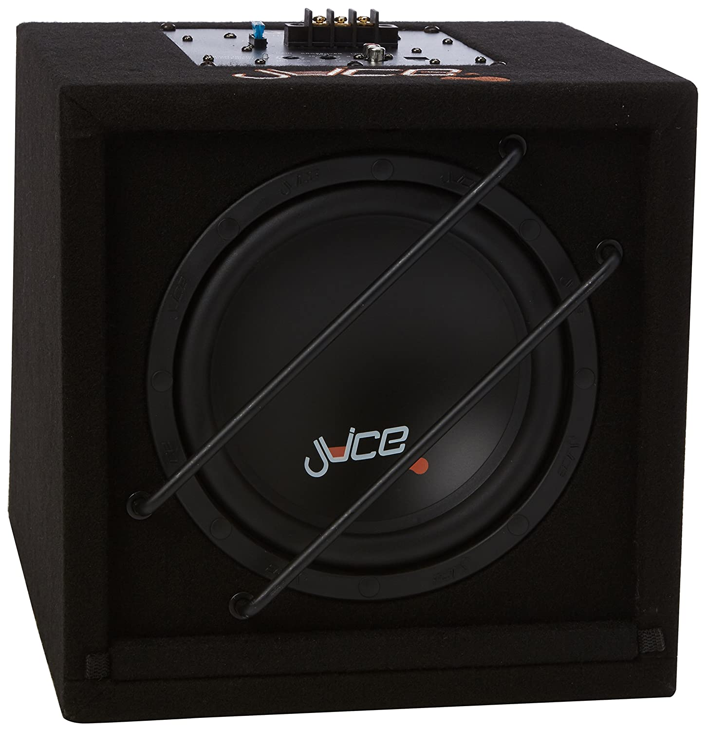 Juice AS8 Compact Active Subwoofer Enclosure with Built In Amplifier and 8-Inch Subwoofer In Phase