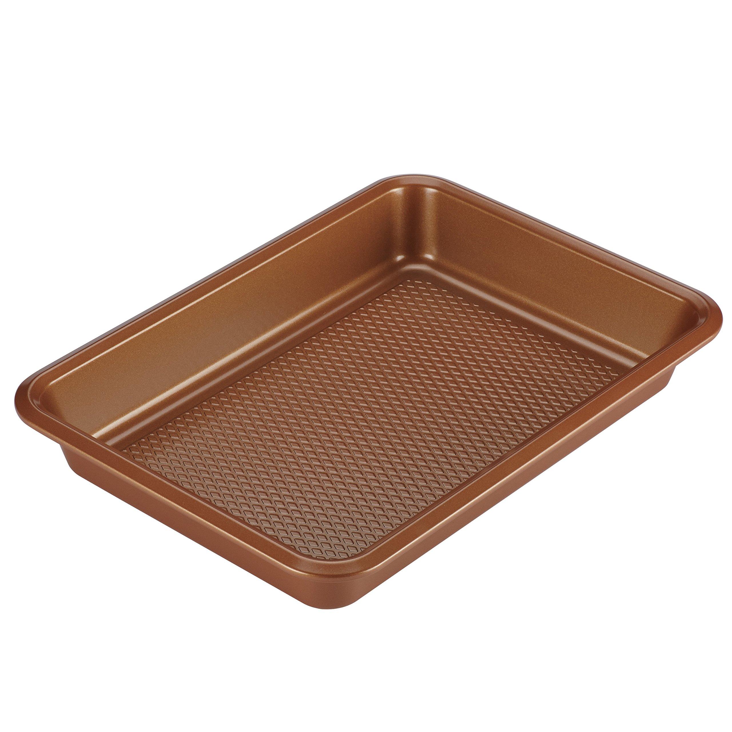 Ayesha Bakeware Cake Pan, 9-Inch x 13-Inch, Copper