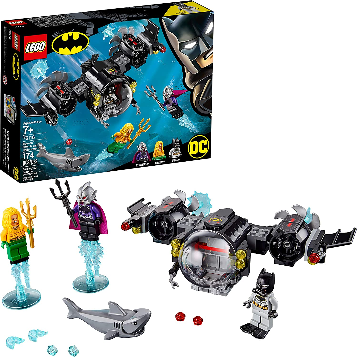 LEGO DC Batman: Batman Batsub and the Underwater Clash 76116 Building Kit (174 Pieces)