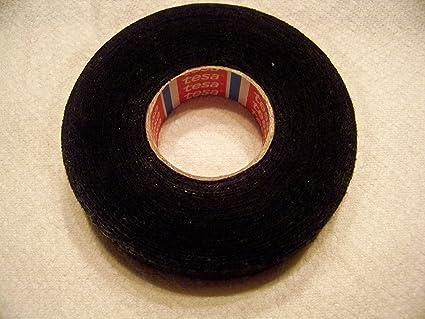 amazon com 5 rolls tesa black fuzzy fleece interior wire loom rh amazon com bmw wiring harness tape Cloth Wire Loom
