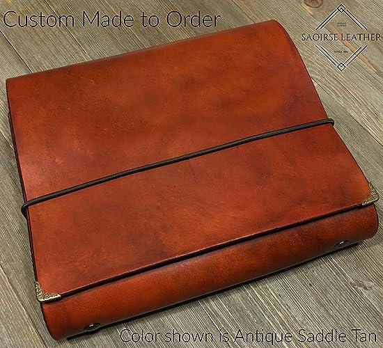 The Rowan Custom Leather 3 Ring Trifold Mini Photo