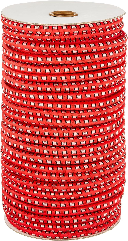 CargoBuckle F05388 3//8-Inch by 100-Feet Utility Stretch Cord Reel Red IMMI-Cargobuckle