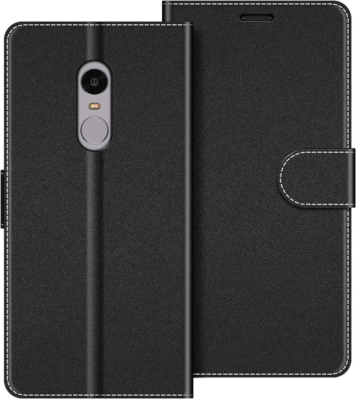 COODIO Funda Xiaomi Redmi Note 4 con Tapa, Funda Movil Xiaomi Redmi Note 4, Funda Libro Xiaomi Redmi Note 4 Carcasa Magnético Funda para Xiaomi Redmi Note 4, Negro