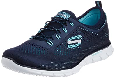 Summits, Baskets Femme, Bleu (Navy/Aqua), 41 EUSkechers