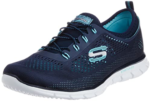 Skechers Glider - Harmony, Women's Low-Top Sneakers, Blue (Navy/Aqua