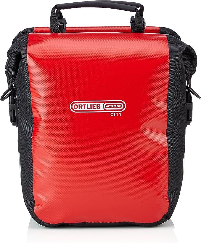 Ortlieb Front-Roller City - Bolsa para Ruedas Delanteras de Bicicleta Rojo Multicolor Talla:30x25x14: Amazon.es: Deportes y aire libre