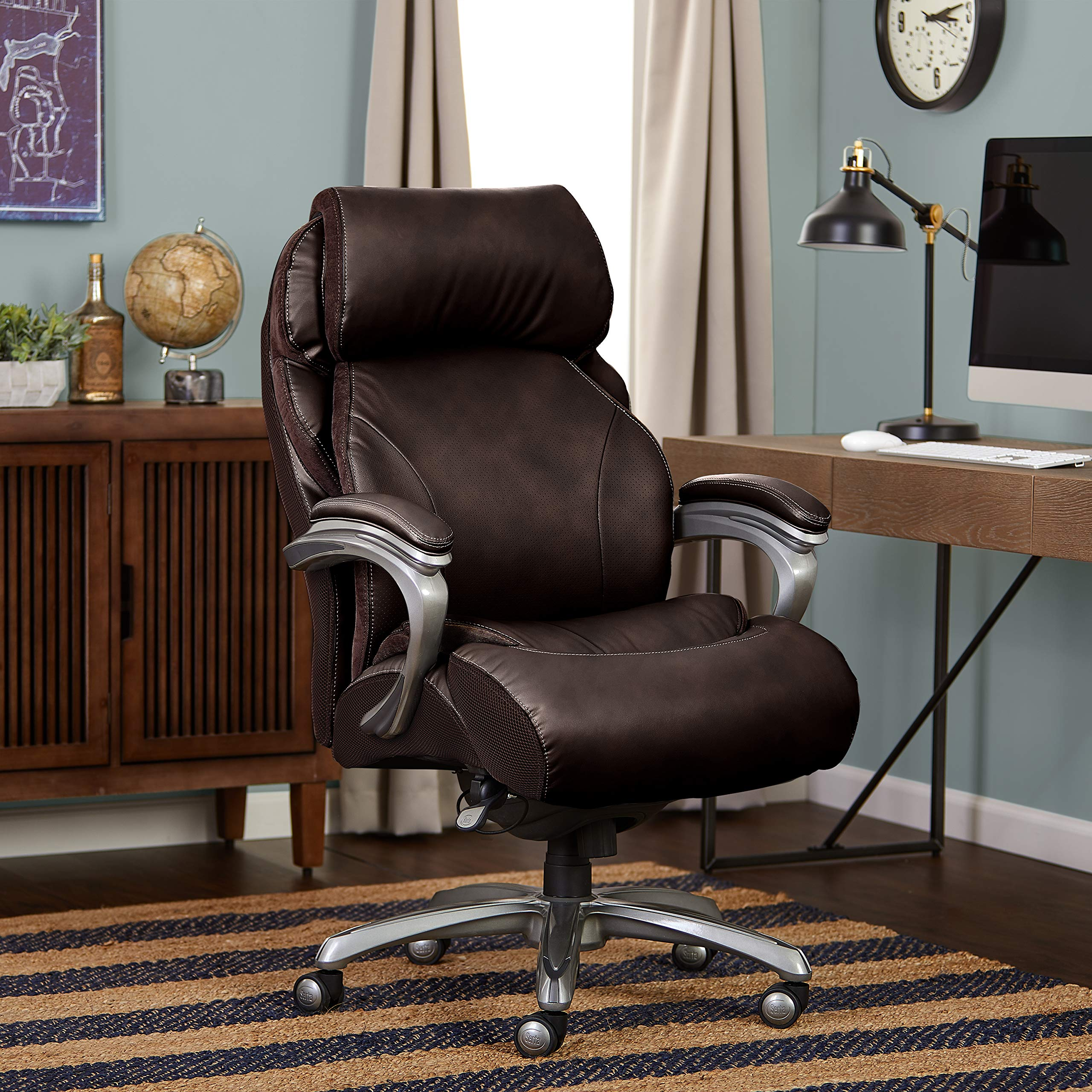 Serta CHR10053B Big & Tall Executive Office Chair, Brown by Serta