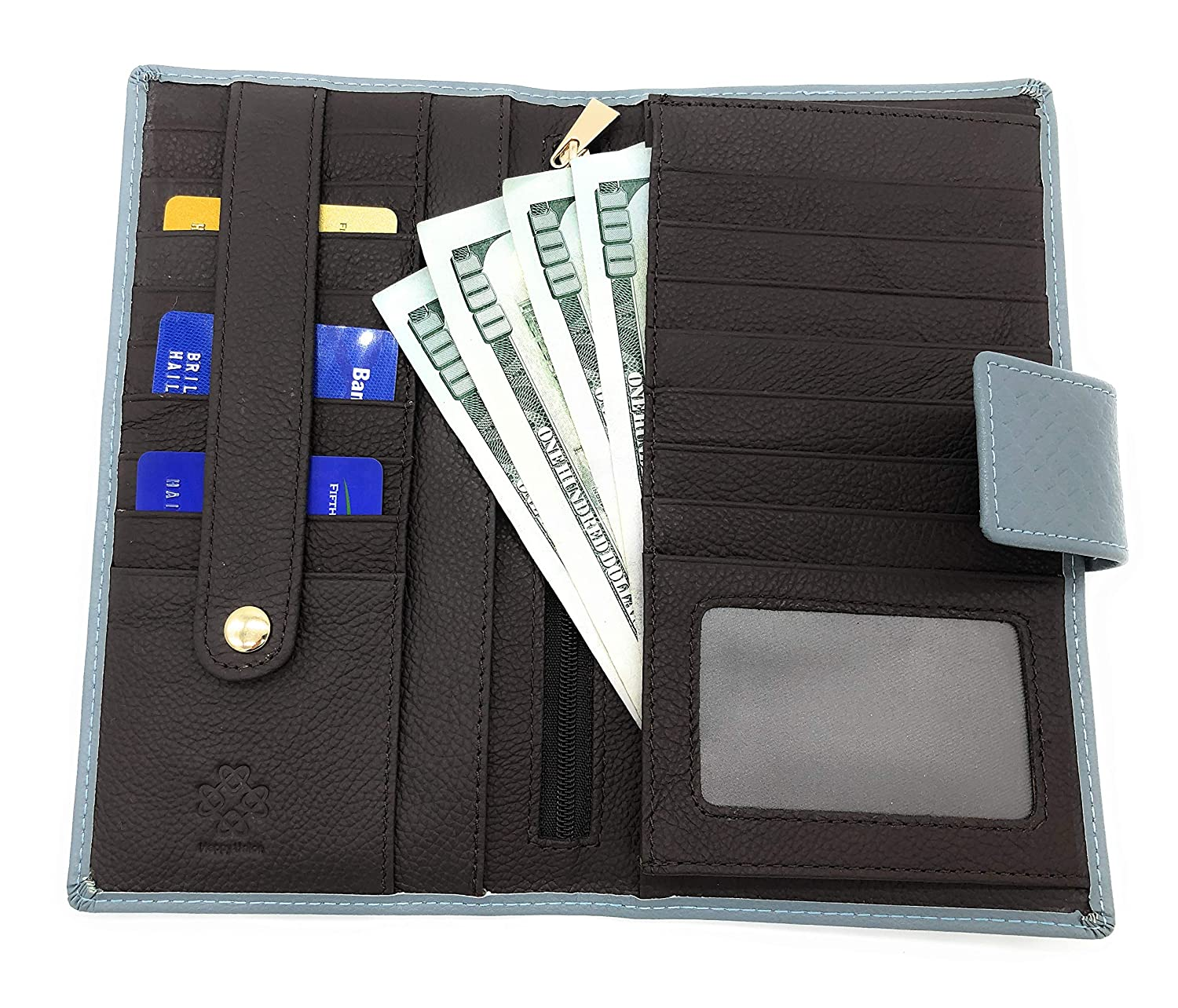 Happy Union Fashion Large Capacity Genuine Leather Wallet for Women
