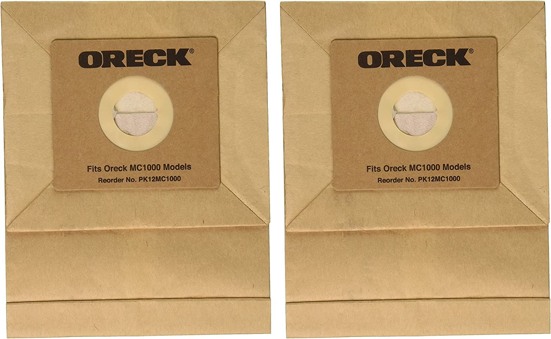 Oreck PK12MC1000 Paper Bag, Mc1000 Quest Canister 12 Pk