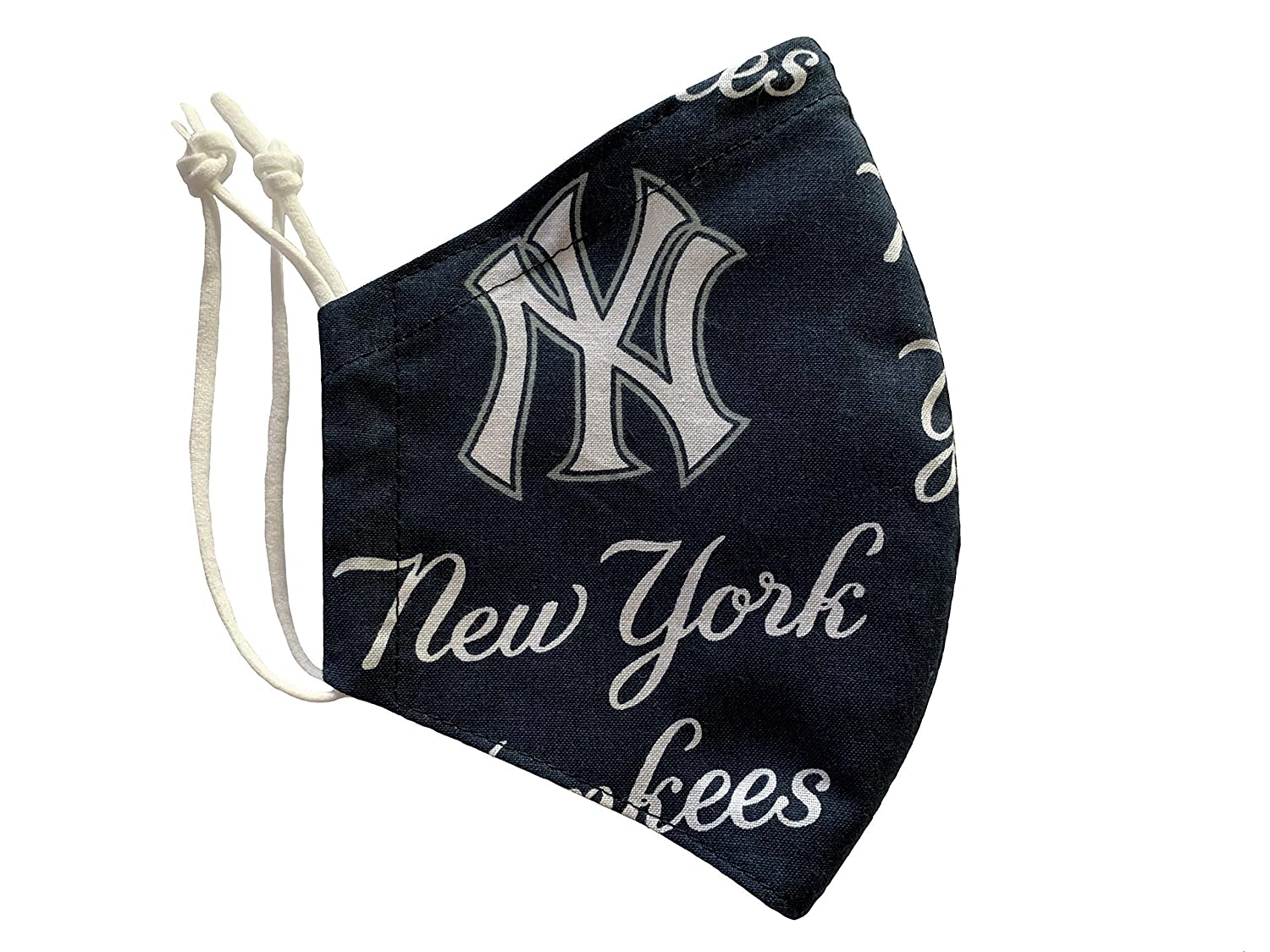 Amazon Com Ny Yankees Patterned Reusable Cotton Face Mask Embroidery Available Nose Wire And Filter Pocket Made In Usa Handmade