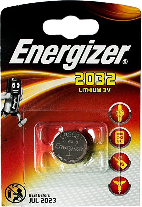 Energizer Coin Lithium batteries CR2032 Lithium 1 case: Amazon.co.uk:  Electronics