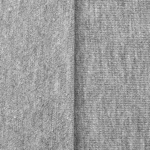 Algodón Jersey - Grueso, suave, elástico - Por metro - 10 colores (gris claro mezcla): Amazon.es: Hogar