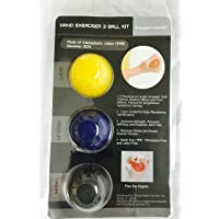 Therapist's Choice Hand Exercise 3 Ball Kit: 3 Color Coded Resistance Levels