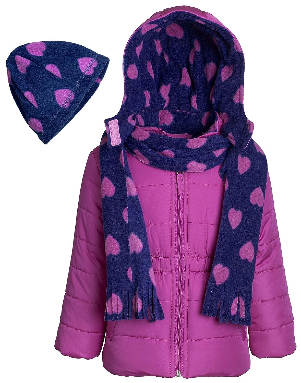 77528574e Amazon.com  Pink Platinum Girls Hooded Winter Puffer Bubble Jacket ...