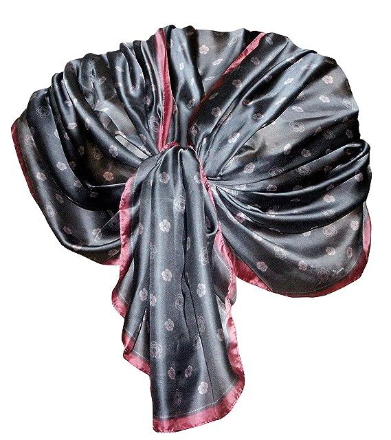 b401e7018 Elegante maxi SCIARPA Scialle Foulard,da Donna Ragazza Coprispalle Stola  Cerimonia in Seta 6 Colori (Argento): Amazon.it: Abbigliamento