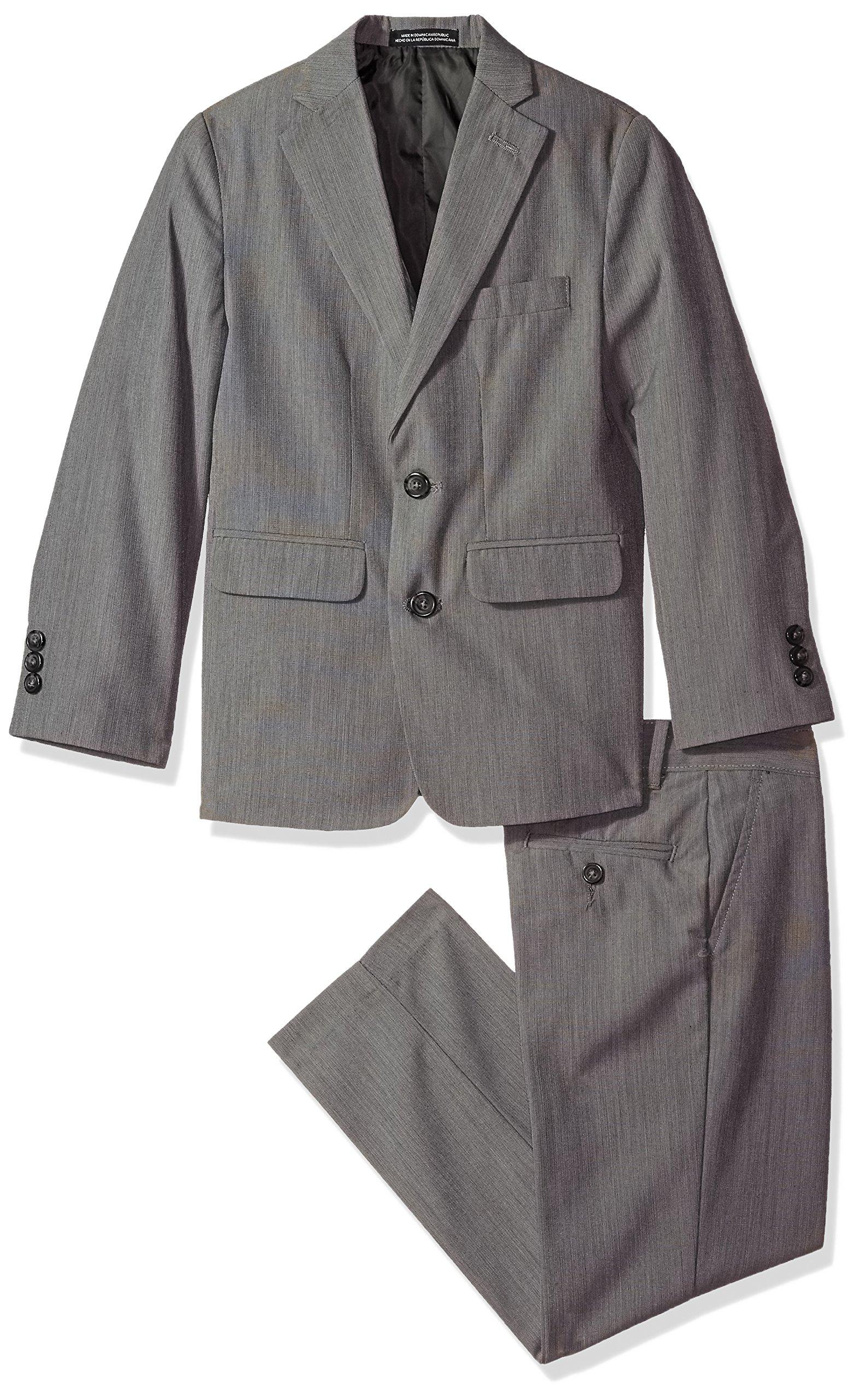 Van Heusen Big Boys' Hairline 2 Pc Suit, Dark Shadow, 16