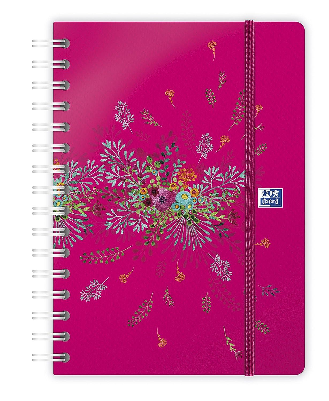 Oxford 100735831 Flowers - Agenda (semanal en espiral año ...