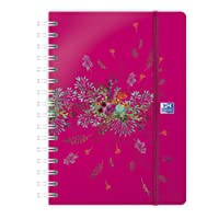 Oxford 100735831 Flowers Agenda Civil Semainier spiralé Année 2019 15 x 21 cm Fuchsia